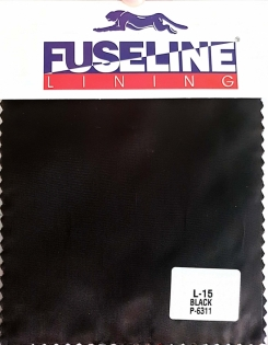 Plain Twill Jacket Lining L-15 Black