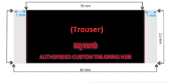 Customized Hub Label - Trouser