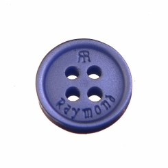 16 L Raymond Shirt Button Royal Blue with Double R logo