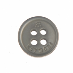 16 L Raymond Shirt Button Greay with Double R logo