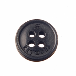 16 L Raymond Shirt Button Black with Double R logo