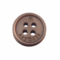 16 L Raymond Shirt Button Brown with Double R logo