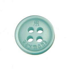 16 L Raymond Shirt Button Aqua Marine with Double R logo